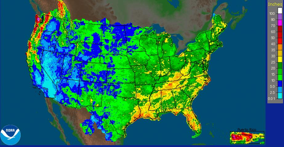 rainfall last 180 days