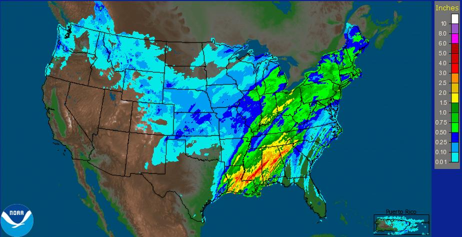 Rainfall Last 24 hours
